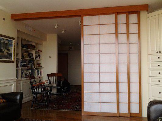hanging door room divider photo - 8