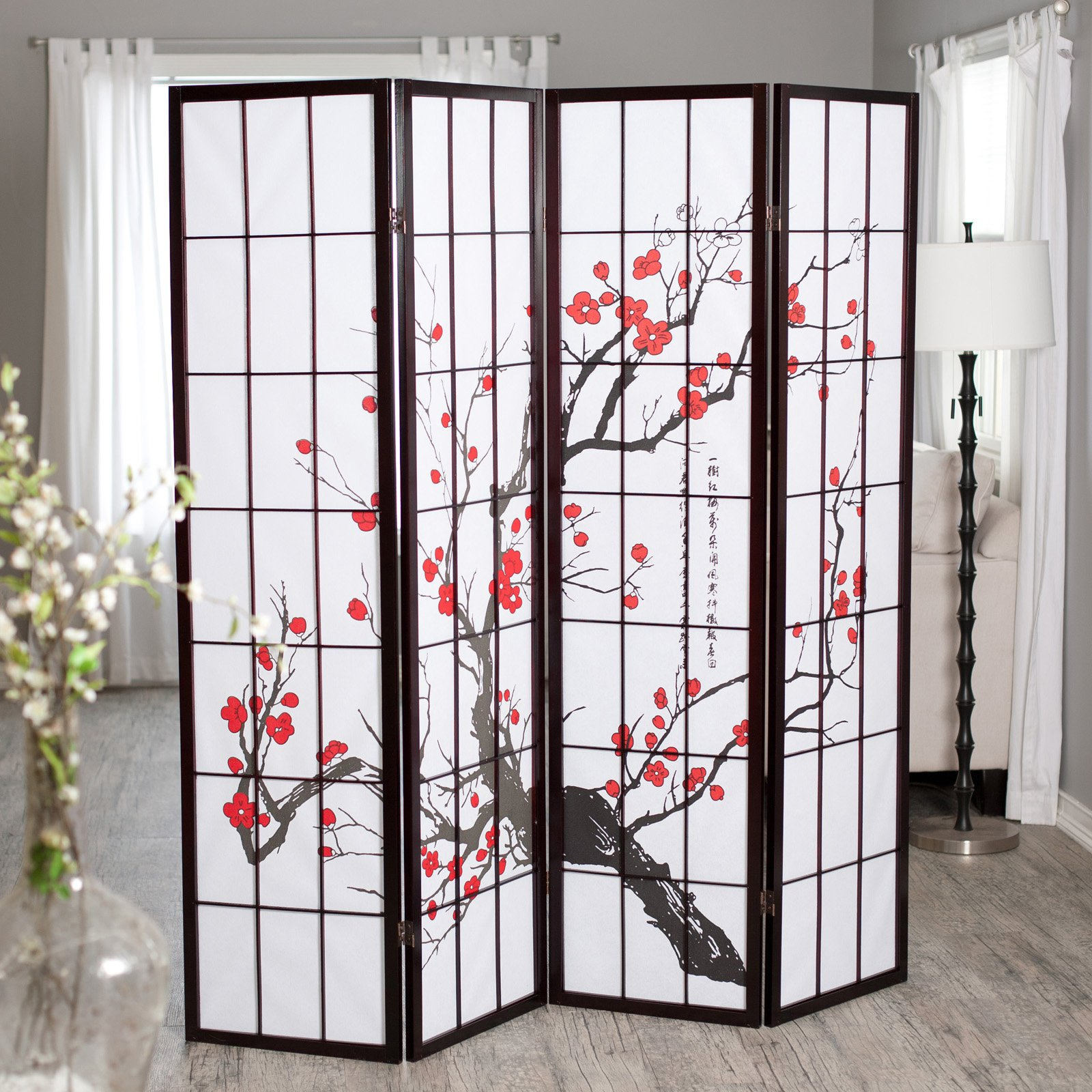 hanging room divider panels photo - 6