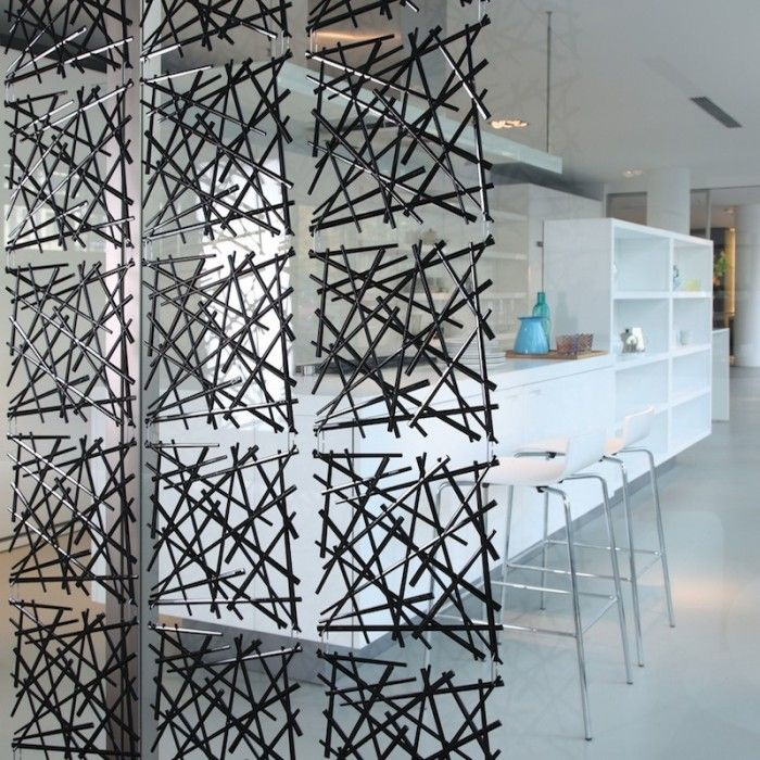 hanging room divider screen photo - 10
