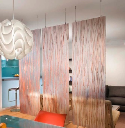 hanging room divider screen photo - 5
