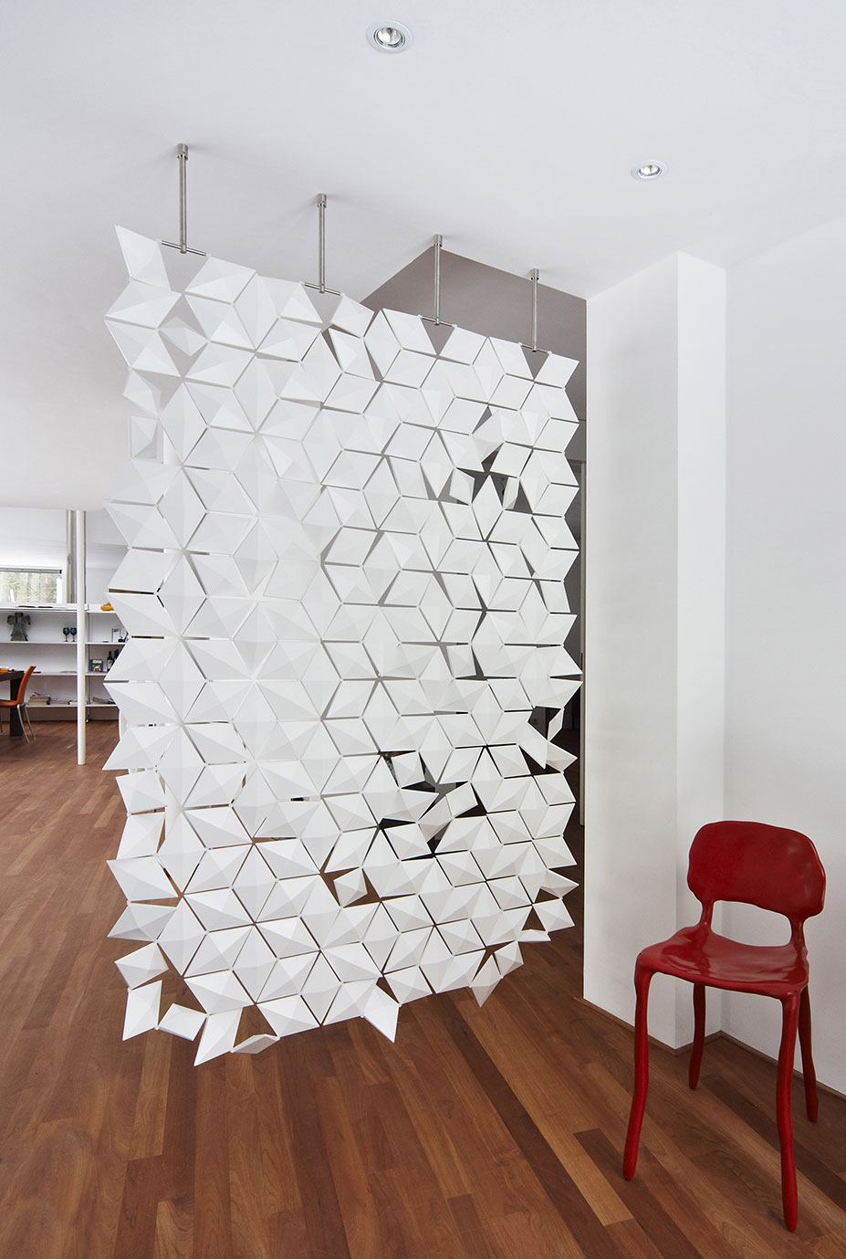 hanging room divider screen photo - 7