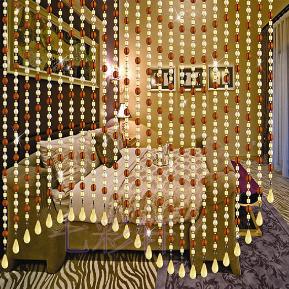 hanging room dividers beads photo - 7
