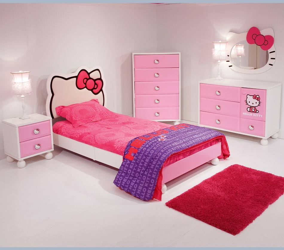 hello kitty bedroom furniture for kids photo - 1