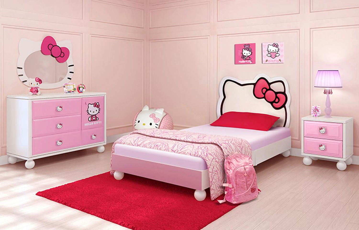 hello kitty bedroom furniture for kids photo - 7