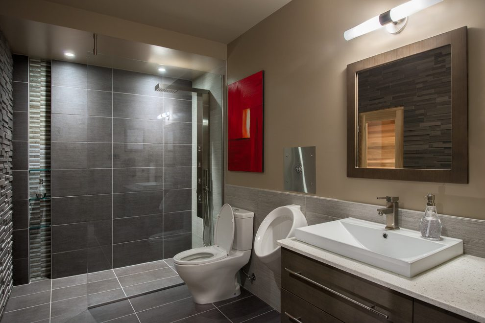 home bathrooms with urinals photo - 9