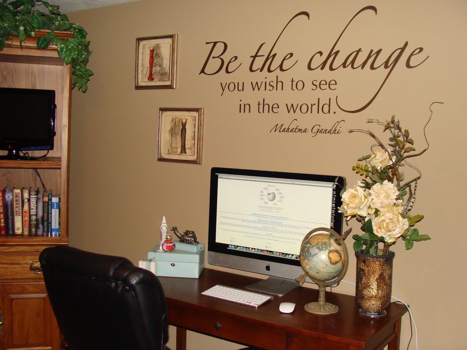 home office wall decor photo - 1