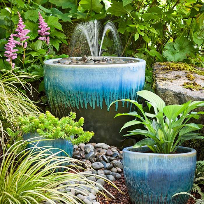 homemade garden fountain ideas photo - 2