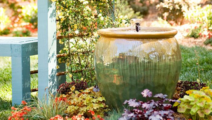 homemade garden fountain ideas photo - 3