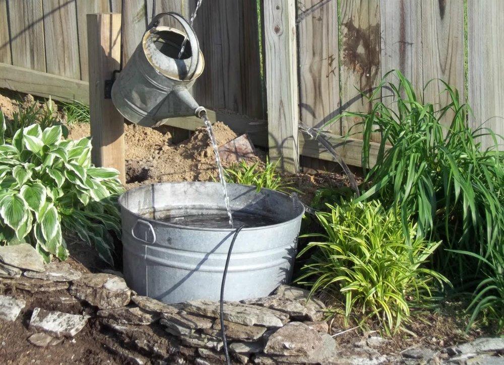 homemade garden fountain ideas photo - 4