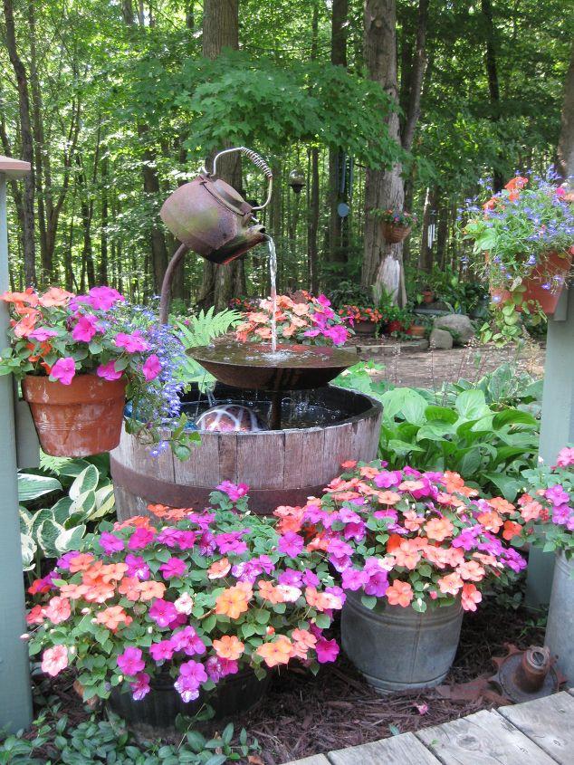 homemade garden fountain ideas photo - 8