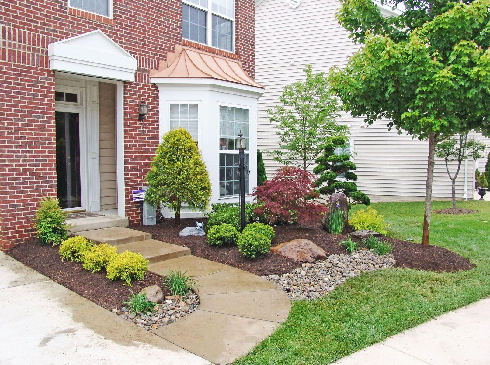 house entrance garden ideas photo - 10