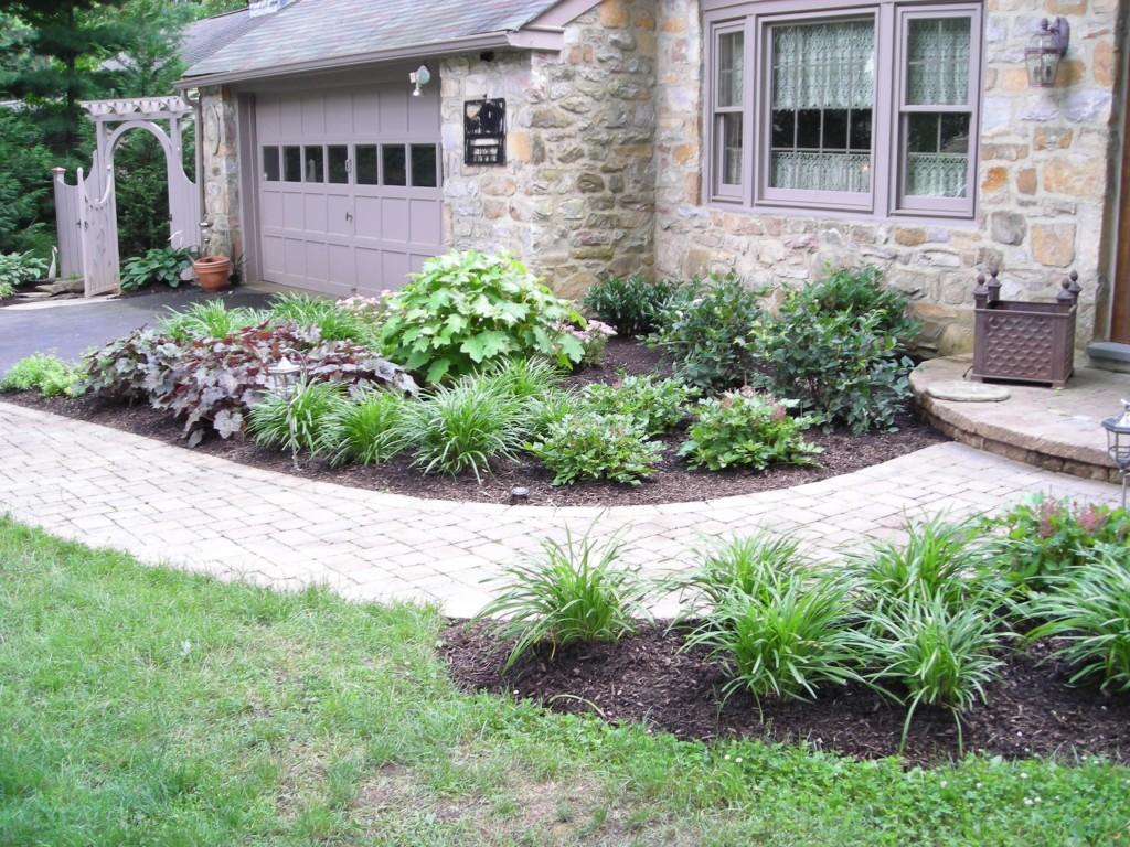 house entrance garden ideas photo - 4