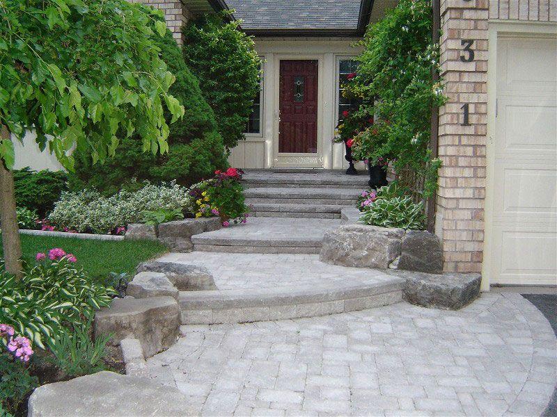 house entrance garden ideas photo - 5