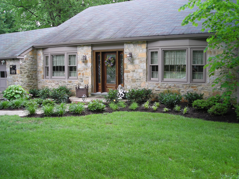 house entrance garden ideas photo - 6