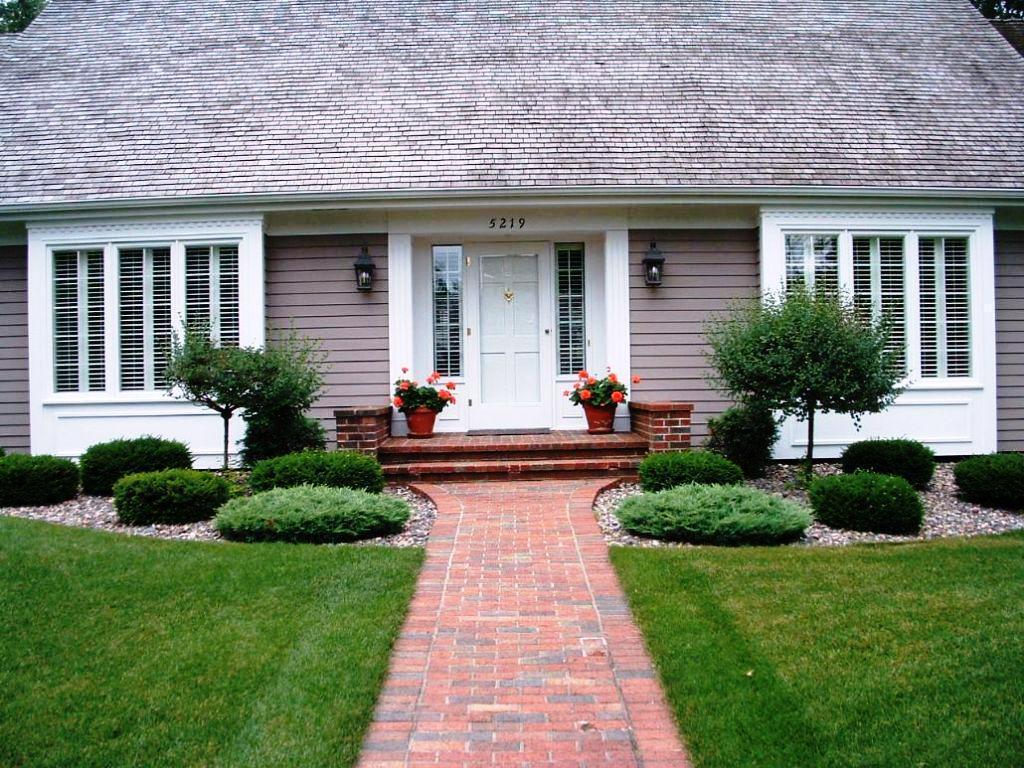 house entrance garden ideas photo - 7