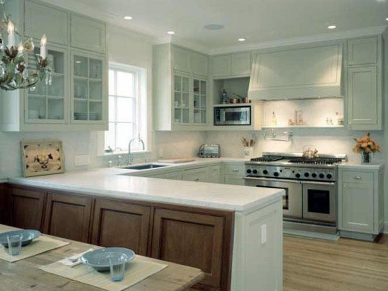 ideas for u shaped kitchen photo - 2