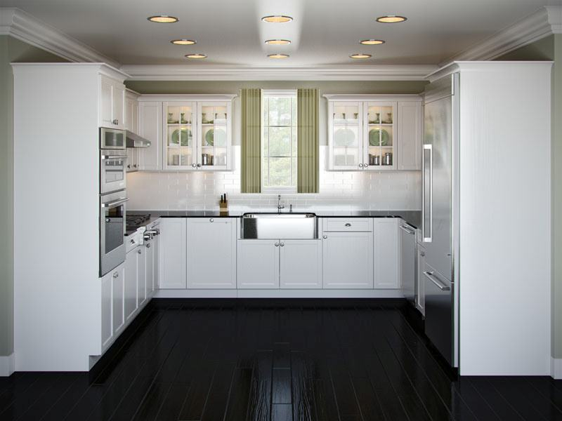 ideas for u shaped kitchen photo - 3