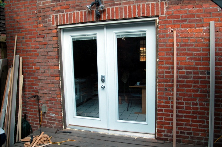 install french doors exterior wall photo - 7