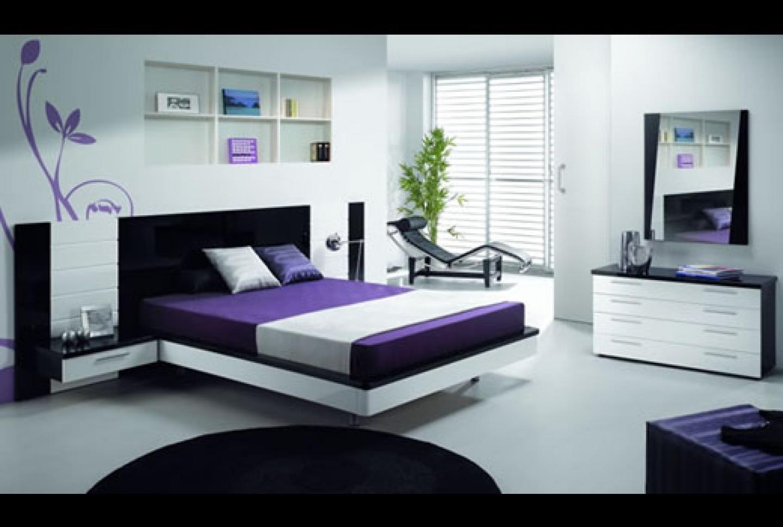 interior design bedroom black furniture photo - 10