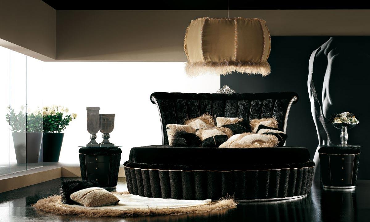 interior design bedroom black furniture photo - 4