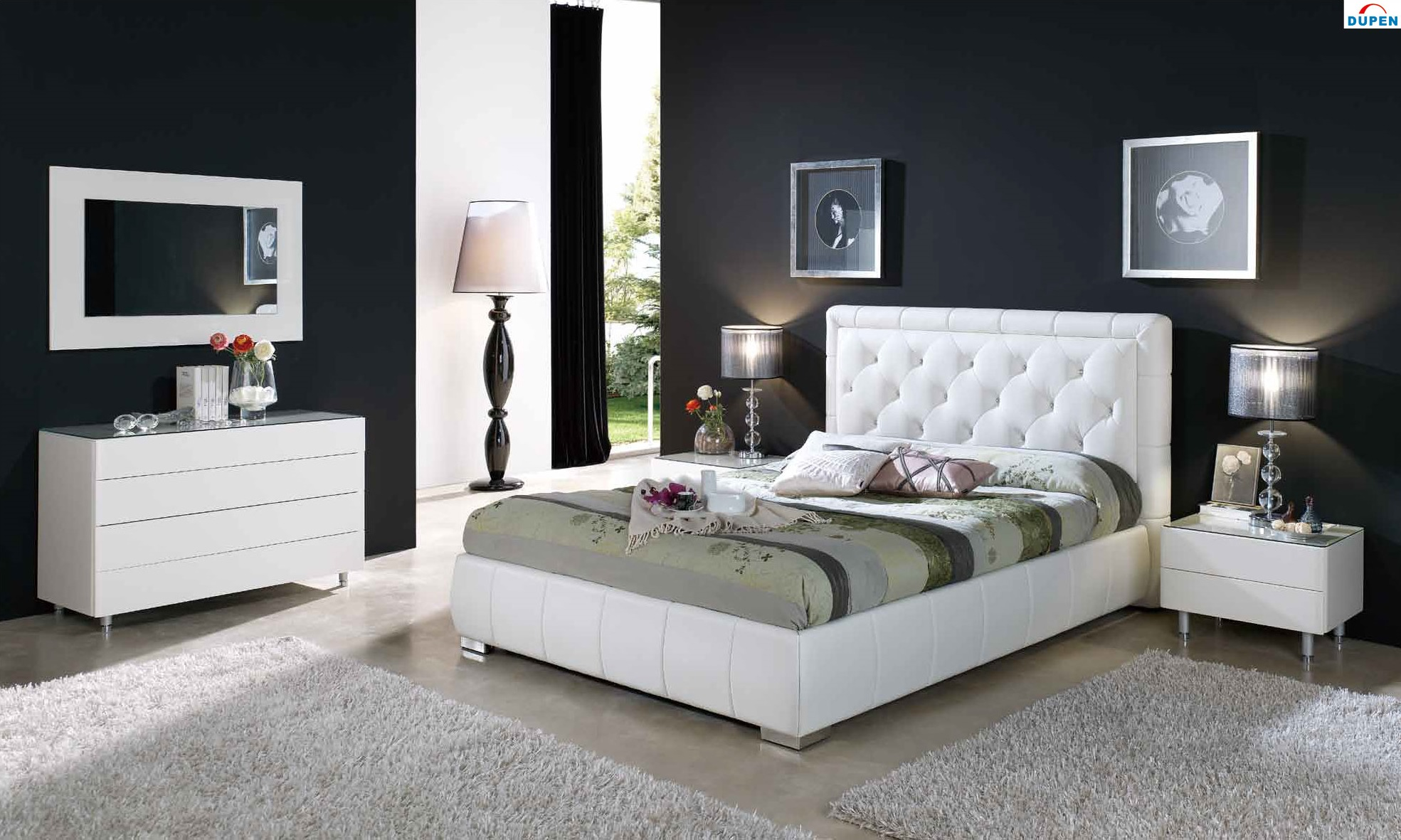 interior design bedroom black furniture photo - 5