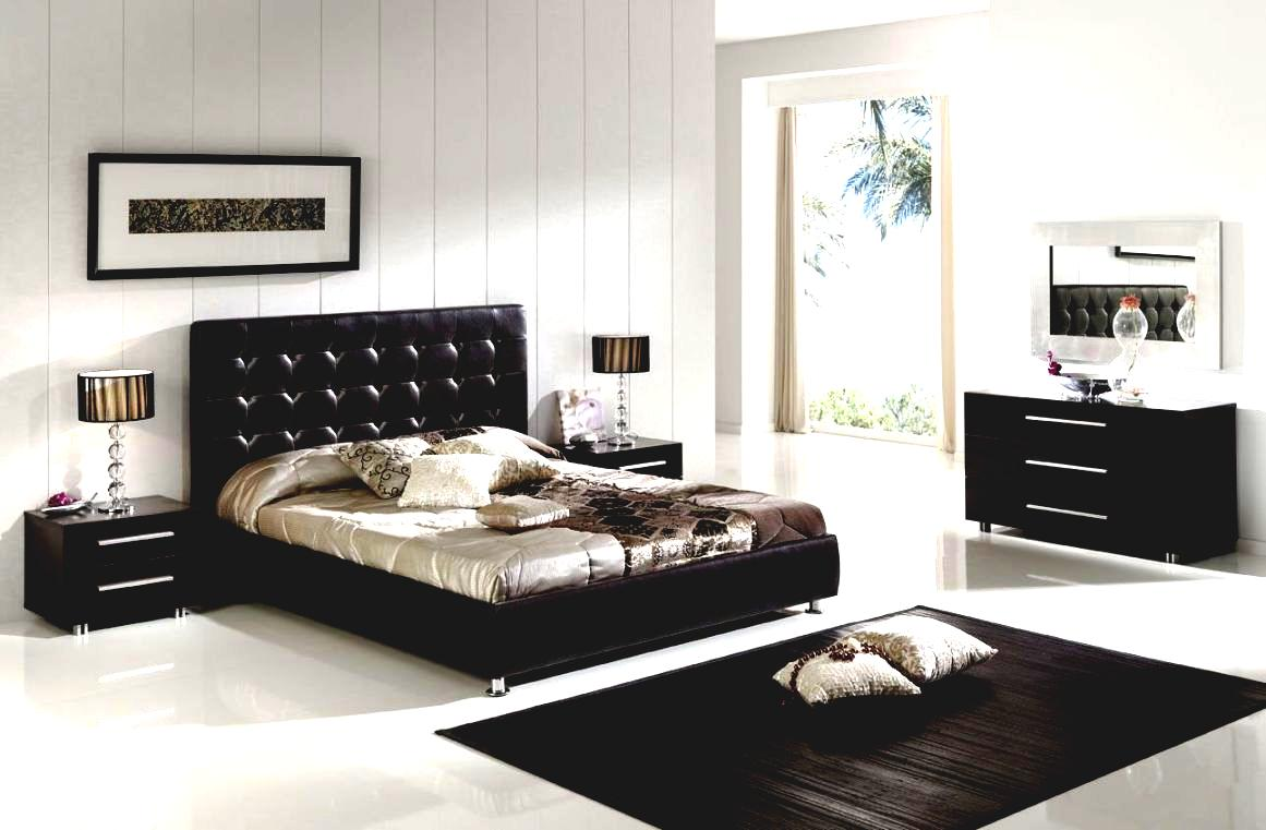 interior design bedroom black furniture photo - 8