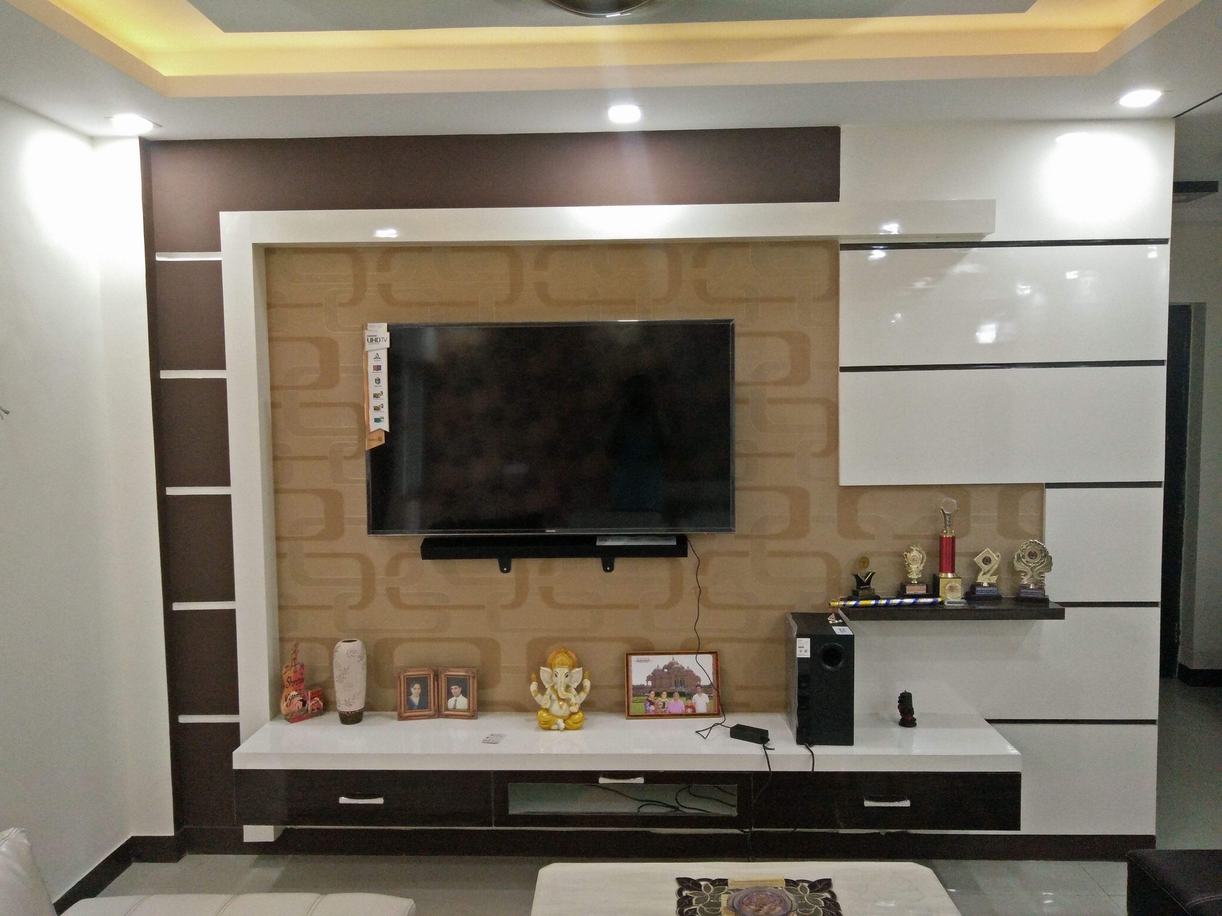 interior design ideas tv unit photo - 10