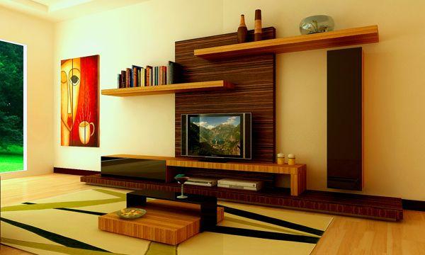 interior design ideas tv unit photo - 2