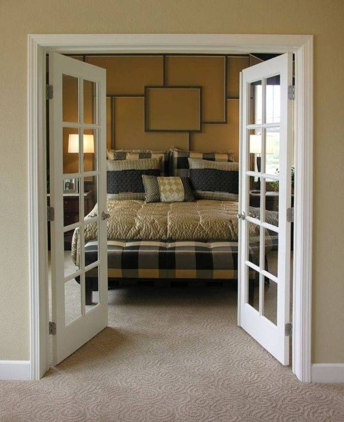 interior french doors bedroom photo - 8