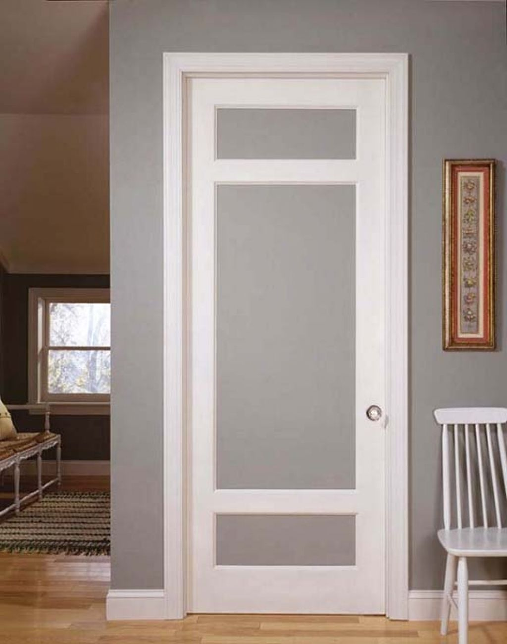 interior french doors frosted glass photo - 10