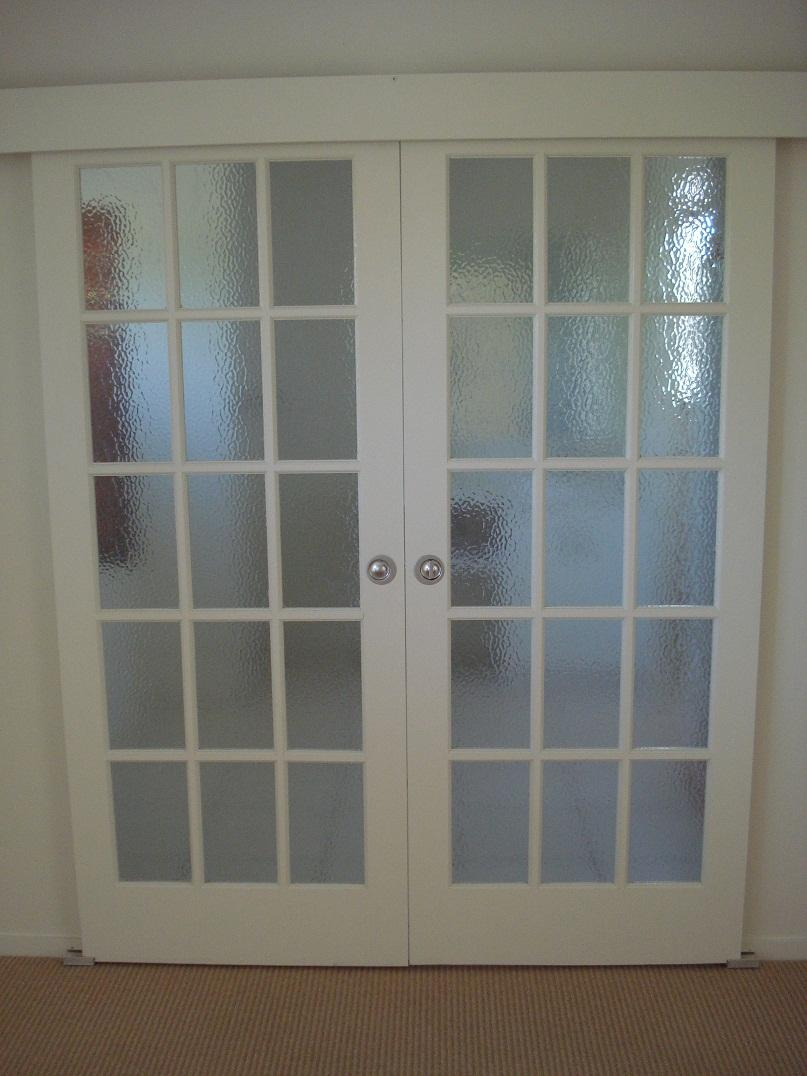 Interior French Doors Frosted Glass Photo 4