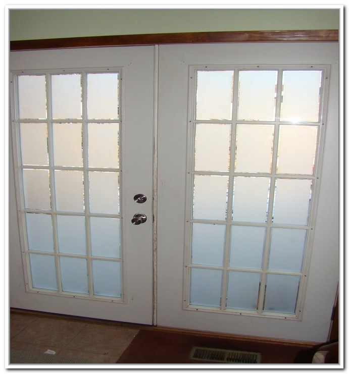 interior french doors frosted glass photo - 9