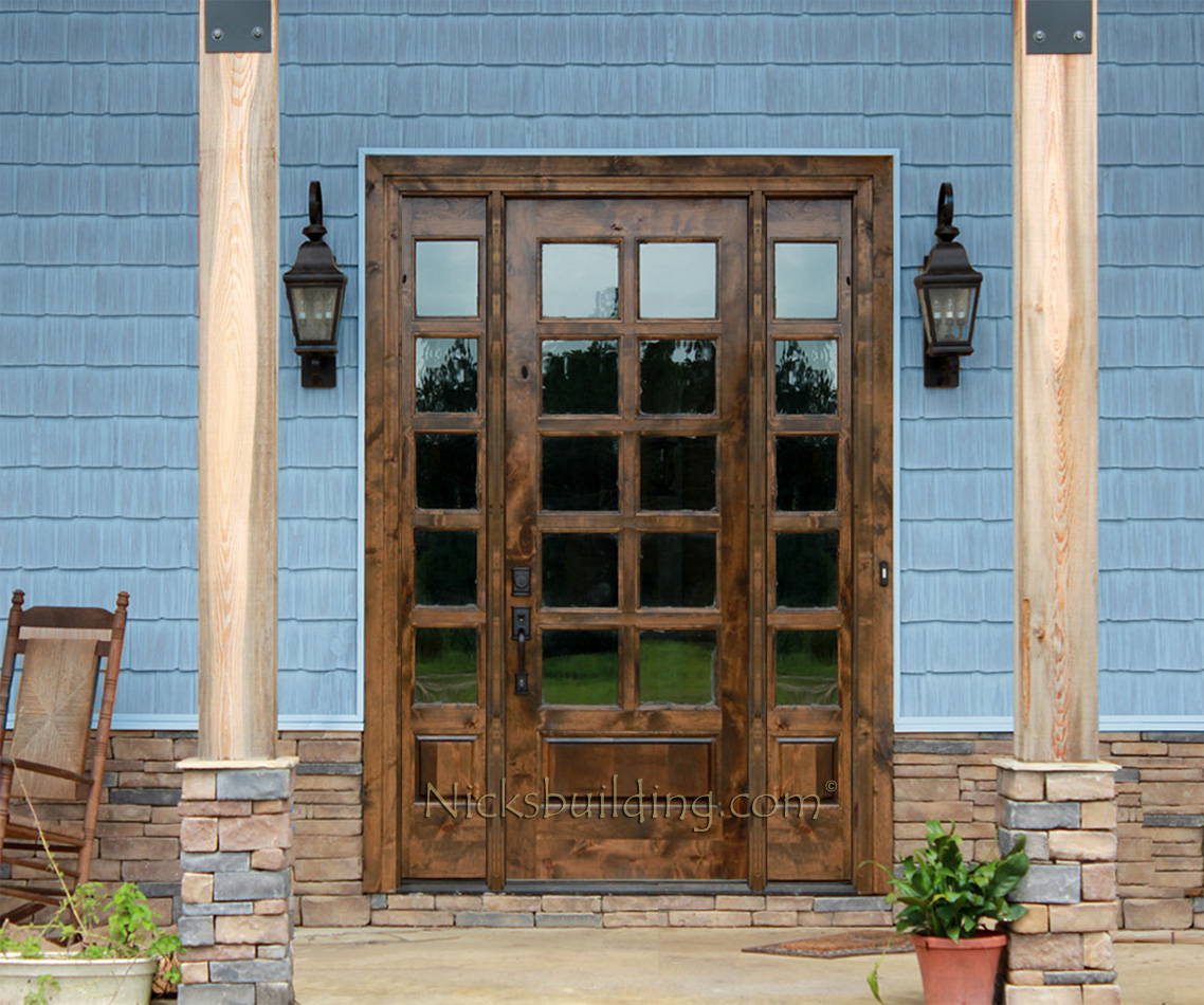 interior french doors sidelights photo - 5