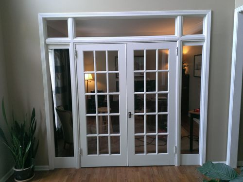 interior french doors sidelights photo - 9