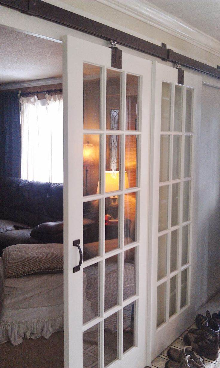 interior french doors sliding photo - 8
