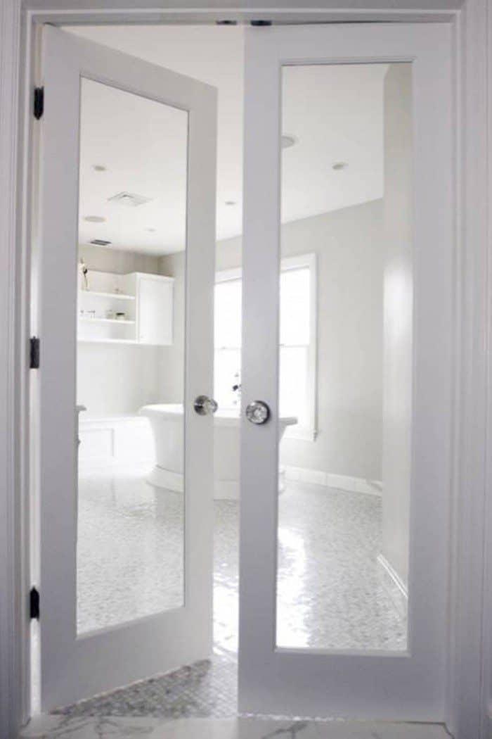 interior french doors white photo - 3