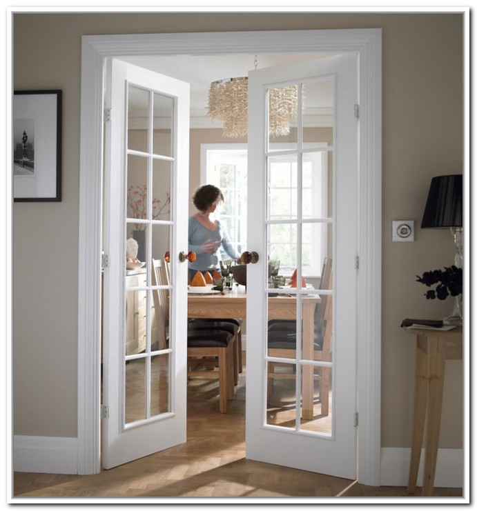 interior french doors white photo - 5
