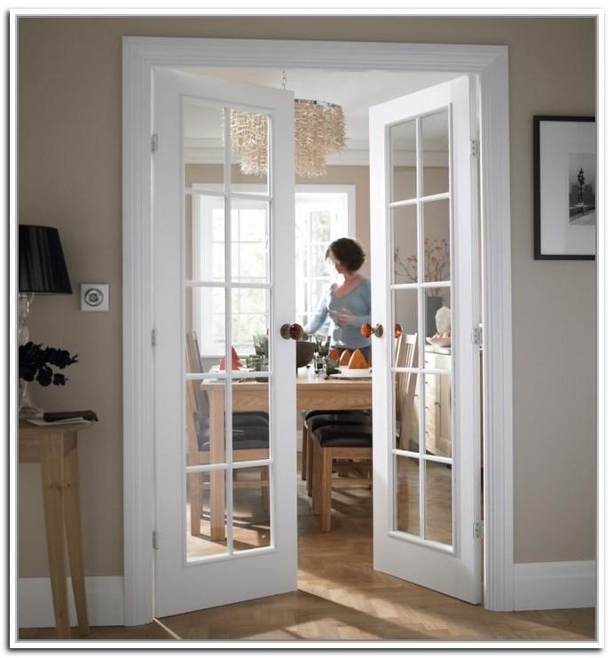 interior french doors white photo - 6