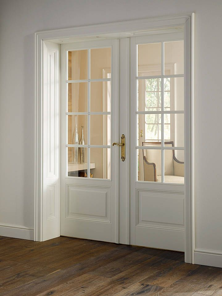 interior french doors white photo - 8