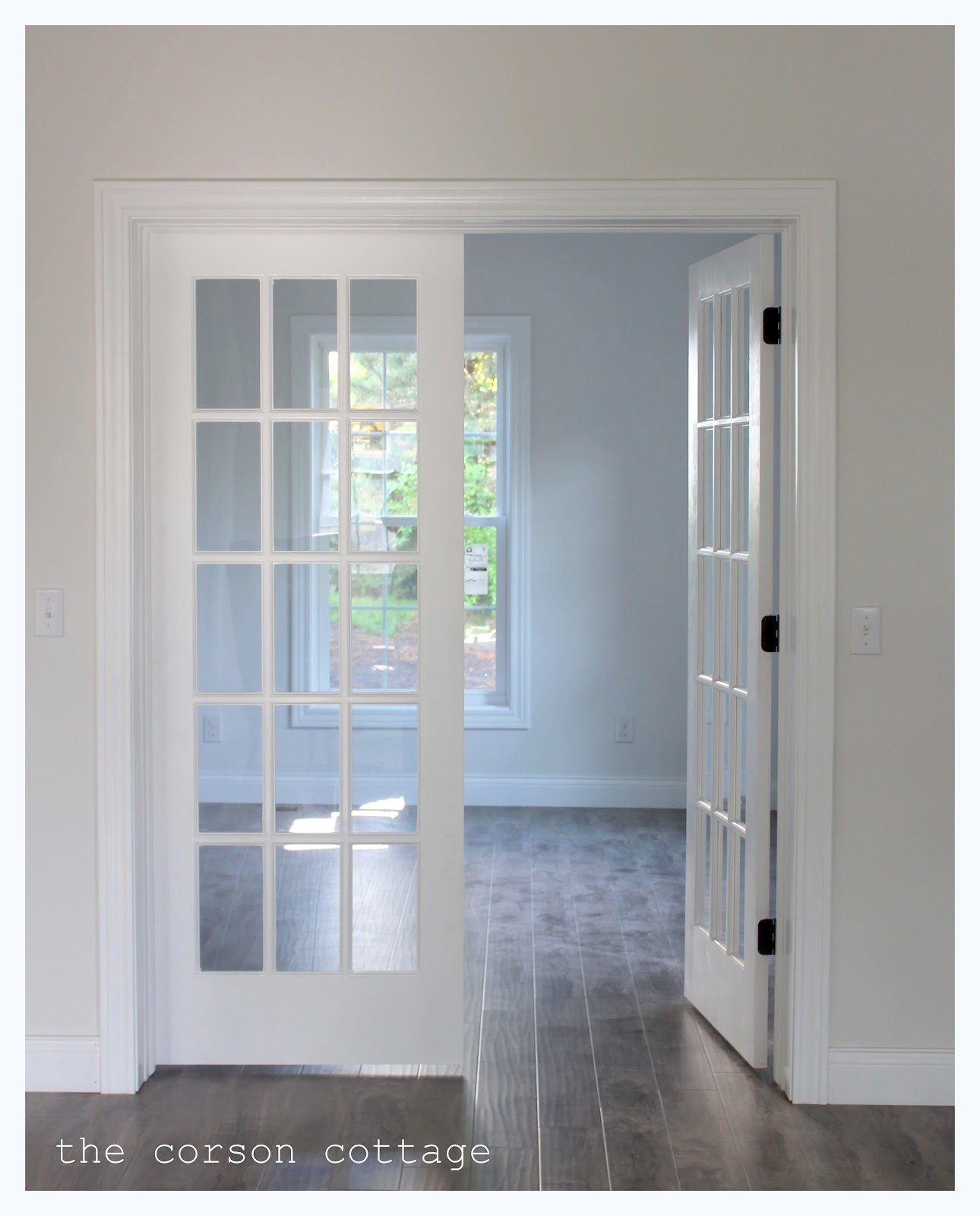 interior french doors white photo - 9
