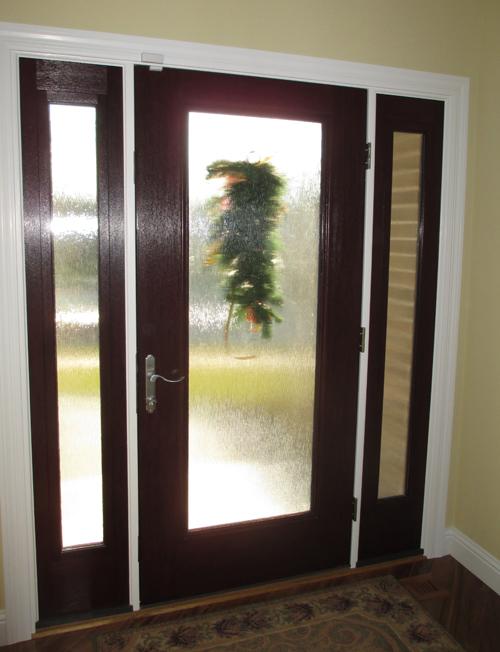 interior french doors with rain glass photo - 10