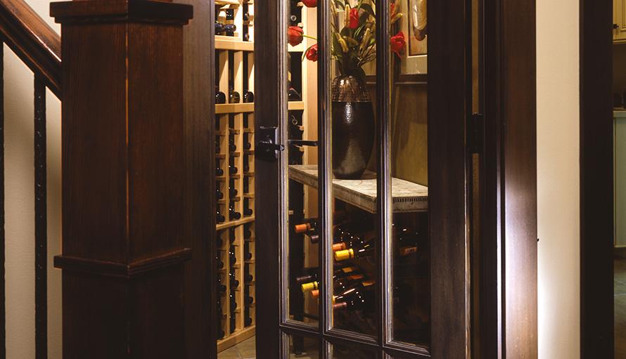 interior french doors with rain glass photo - 2