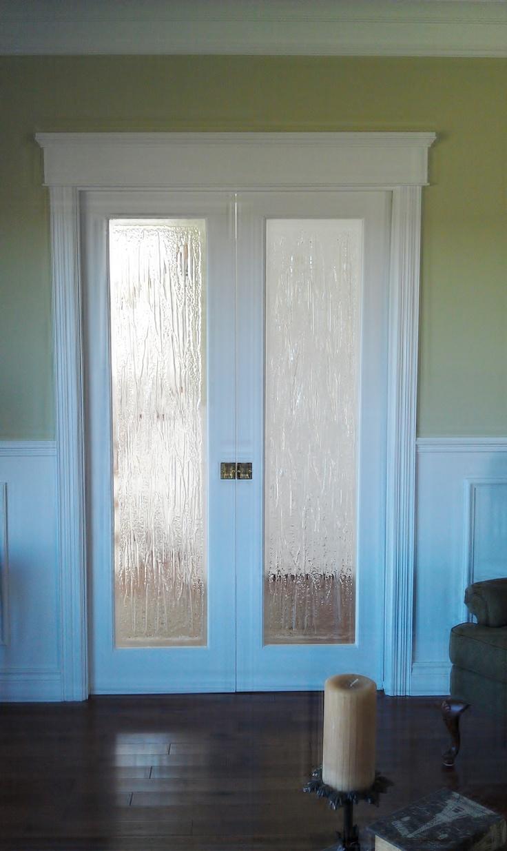 interior french doors with rain glass photo - 5