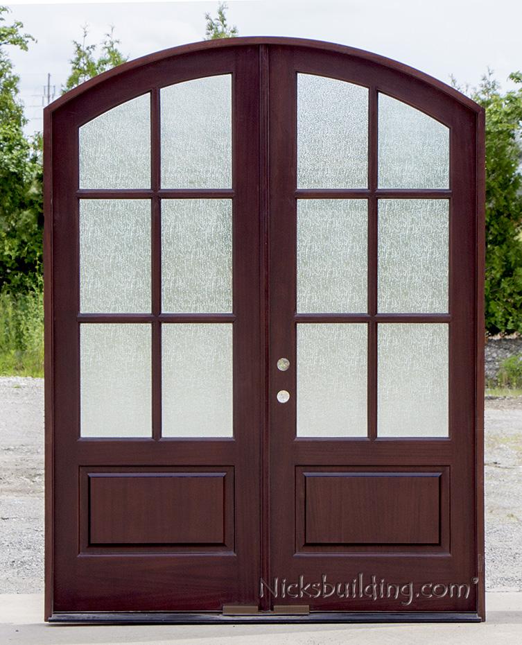 interior french doors with rain glass photo - 7