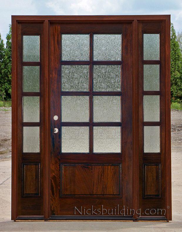 interior french doors with rain glass photo - 8