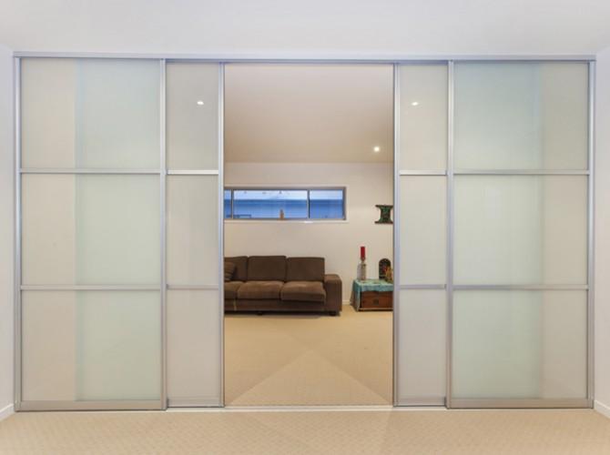 interior sliding doors room dividers photo - 7