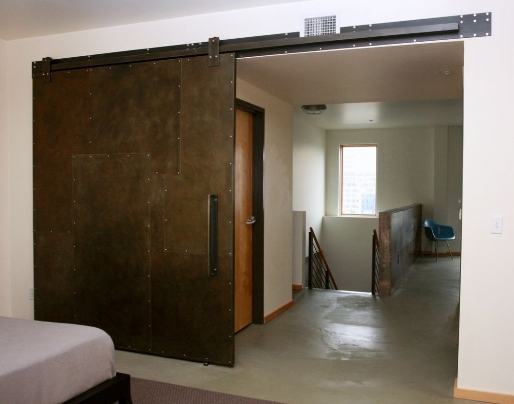 interior sliding metal doors photo - 3