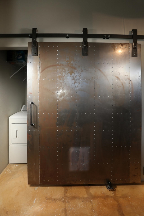 interior sliding metal doors photo - 9