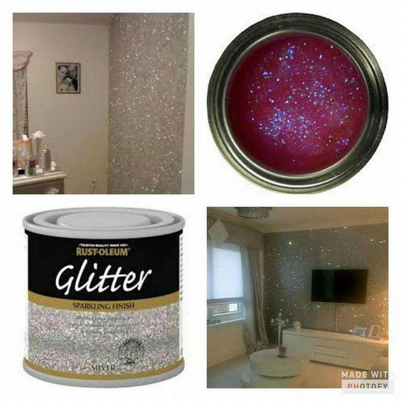 interior wall paint glitter photo - 10