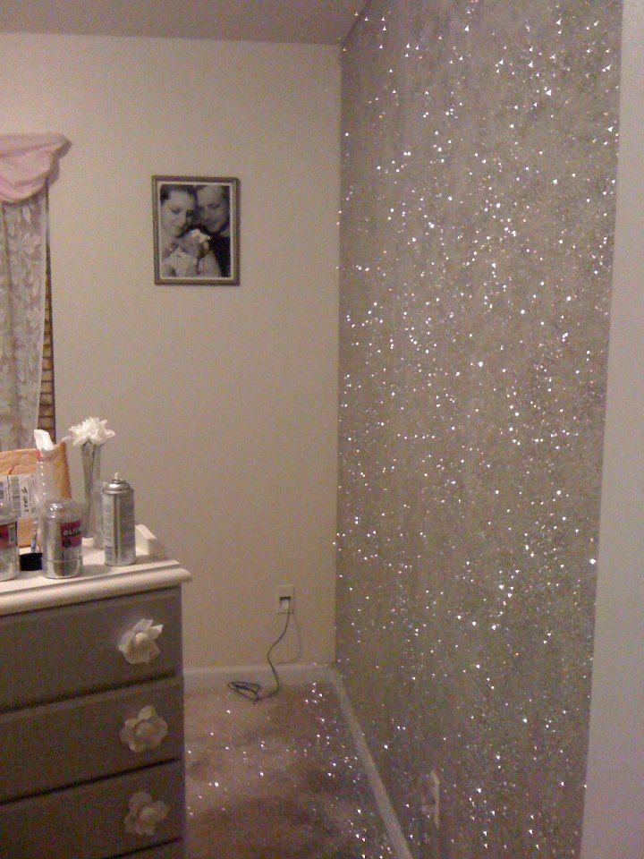 interior wall paint glitter photo - 2